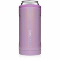 Brumate Hopsulator Slim Can Cooler Tumbler 12 oz Drink Holder Glitter Violet