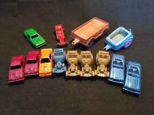 Old Vtg Collectible Diecast Toy Car And Trailer Lot Tootsietoy, Midgetoy, Etc