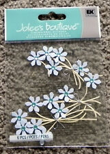 JOLEE/'S BOUTIQUE BLUE JEWELED FLOWERS DIMENSIONAL STICKERS  BNIP