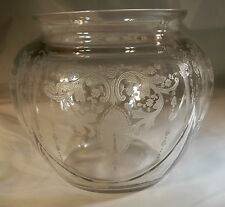 "CAMBRIDGE CANDLELIGHT CRYSTAL RARE #3400/102 5"" TALL GLOBE VASE or JAR!"