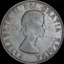 1956 VF++ Canada Silver 50 Cents (Fifty, Half) - KM# 53 - JG