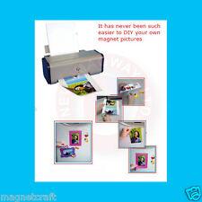 "20 magnetic 8.5""x11"" printable gloss white sheet"