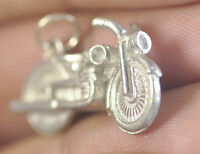 LOOK 3D Solid New Motorcycle cruiser Harley Sterling Silver 925 Charm jewelry bi