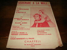 JEANETTE MAC DONALD & ALLAN JONES - Partition SERENADE A LA MULE !!!!!!!!!