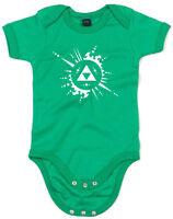 Triforce Image, Legend of Zelda inspired Kid's Printed Baby Grow