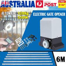 1200kg Sliding Electric Gate Opener Automatic Motor 2 Remote Kit 6m Rail Tracks