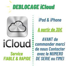 Déblocage iCloud iPad iPhone Bypass permanent déverrouillage activation lock FMI