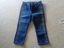 GAP Super Skinny 3/4 pedal pushers Jeans  Bling down Legs        Size 7     EEUC