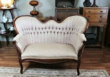 Antique Mahogany Victorian Tufted Settee by Carlton McLendon Furniture Co.
