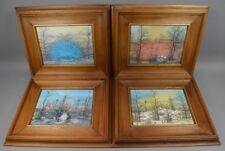 Ivan Lackovic4 Kunstdrucke 4 Jahreszeiten Holzrahmen 4 seasons