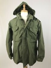 Vtg US Army Military Field Jacket Cold Weather Coat Green Medium Winfield W Hood