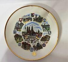 Mitterteich Bavaria Germany decorative plate with holder on back. Muniz, Germany