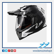 CASCO HELMET LS2 ENDURO MX436 PIONEER TRIGGER BIANCO NERO BLACK WHITE XL