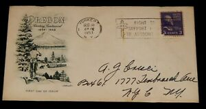 Vintage Cover, UNITED STATES POSTAL COVER, 1953, YONKERS, NY, Oregon Territory