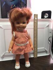 Vintage 1972 Ideal Crissy Red Hair Blue Eyes Cinnamon Growing Hair Doll Nice