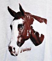 Vintage Cal Cru Air Waves Paint USA Horse T Shirt Single Stitch Art 80s 90s XL
