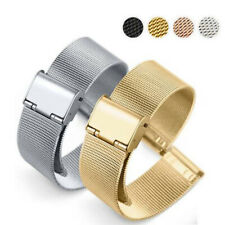 Thick Milanese Watch Strap Band Stainless Steel Mesh Bracelet 12-22mm Watchband