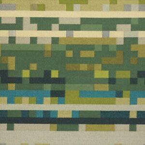 Maharam Anagram Electric Blue & Green Contemporary Digital Upholstery Fabric