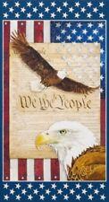 "Robert Kaufman Patriots 18018 202 Eagle Digital 24"" Panel Cotton Fabric"