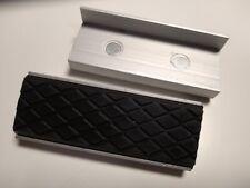 1 Paar 75mm Schraubstock Schutzbacken Alu-Gummi Magnetisch 11