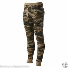 Croft & Barrow Long Underwear Thermal Pants ~ Size XL Tall ~ Green Camouflage