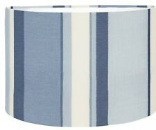 "12""/30cm Lampshade/Pendant Shade Made With Laura Ashley Eaton Stripe Royal Blue"