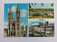 Truro Cornwall Vintage colour Postcard 1975 Multiview
