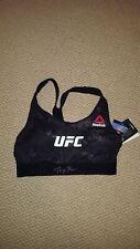 ROSE NAMAJUNAS AUTOGRAPH SIGNED UFC OCTAGON BRA BLACK JSA WITNESS SW CHAMP