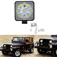 27W Square Spot LED Work Light Lamp Headlight Offroad Fog Driving SUV ATV TruckT