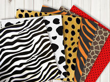 6 Sheets A5 Animal printed crepe paper OR032