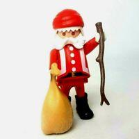 Playmobil Vintage Santa Claus With Stick, Bag & Boots 1986 Father Christmas Rare
