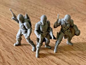 Mandalorian Squad Pack Of 3 Miniatures Mini Mando (custom Star Wars Legion) 3D