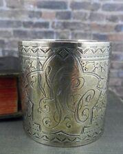 Sterling Silver Floral Napkin Ring 578