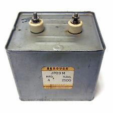 AEROVOX JP09M P09M966, 4 MFD 2500 VDC CAPACITOR. COMMUNICATION RF HAM