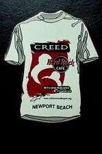 HRC hard rock cafe Newport Beach Signature Series Creed White té le300