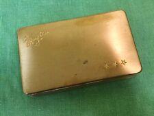 Vintage 50s Brass Metal  Stars Cigarettes Tobacco Case Box Storage Unisex