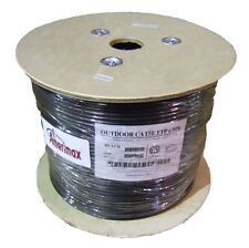 CAT5E Outdoor UV Rated Shielded Direct Burial Cable CMX FTP 350MHz Black 1000FT