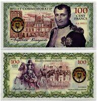 100 francs 2020, Napoleon Bonaparte, Polymer souvenir banknote, UNC