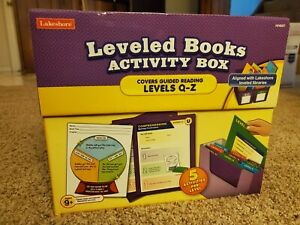 Lakeshore Leveled Books Activity Box Guided Reading levels Q-Z retails $59.99