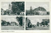 Ansichtskarte Appenweier Baden 1951 Gasthaus Hauptstraße Kirche  (Nr.843)