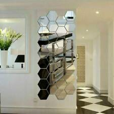 3D Mirror Tiles Mosaic Wall Stickers Pentagon Bedroom Living Room Art Home Decor