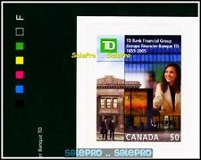 CANADA 2005 CANADIAN TD BANK FINANCIAL GROUP FACE 50 CENT BOOKLET CORNER STAMP