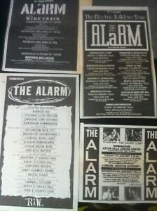 THE ALARM - LIVE 1987 1988 1991 1989 1984 1983 mag advert / magnet MIKE PETERS