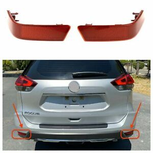 Fit for 2017-2020 Nissan Rogue Rear Bumper Marker Light Reflector LH and RH Set