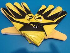 New Patrick PTX Jnr Football Goalkeeper Gloves  Boys Yellow / Black