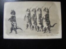 Helena Maguire Edwardian anthropomorphic cat postcard cats playing soldiers.
