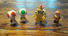 K'Nex Mini Figures Bowser, Mario, Toads, and Diddy Kong