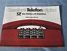 TELEFON-BEDIENUNGSANLEITUNG COMFORT ALPHA DEUTSCHE POST 1982 TASTENTELEFON