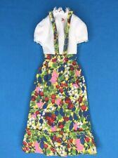 1973 Best Buy Barbie #8620 Multicolor Jumper Floral Dress EXCELLENT