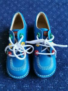 Kickers Blue Lego Shoes Boots Size 13 / 32 Used a Little in Excellent Condition